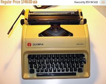 40% SALE Working Typewriter - Vintage Manual Typewriter Olympia Carina 1. Old typewriter made in Japan 1980s.
