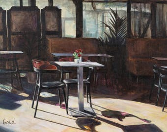 Table in Aix-en Provence cafe
