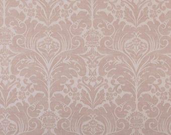 blush pink fabric upholstery fabric damask upholstery fabric 54 width fabric pink fabric designer upholstery fabric
