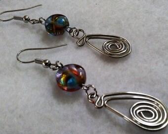 Earrings - Swirl - Multi Color - 1 - 07-26-2017