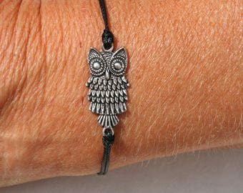 Bracelet with metal OWL or OWL