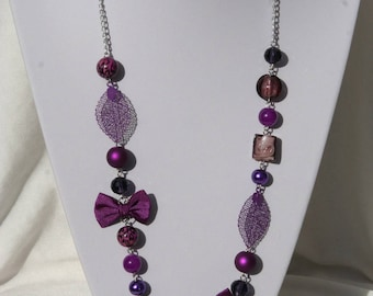 Purple color necklace