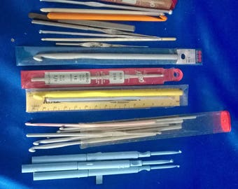 Collection of Crocheting Needles Various Sizes