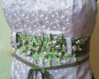 Pretty corset purple brocade fabric woven Bangle
