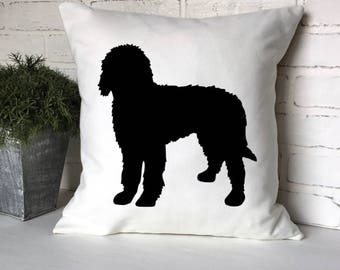 GOLDENDOODLE SILHOUETTE PILLOW,Goldendoodle Pillow,Doodle Pillow,Goldendoodle Decorating,Puppy Gift