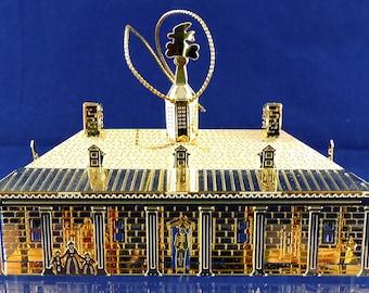 Mount Vernon Christmas 3D Ornament 24k Gold Finish 1999 President George Washington