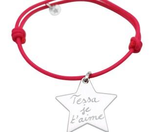 Personalized teen Silver Star bracelet
