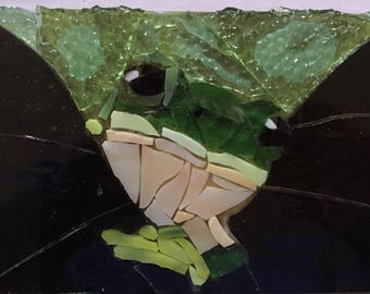 Tree Frog Stained Glass Mosaic