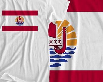 French Polynesia - Flag - Iron On Transfer