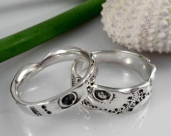 his and hers wedding rings set silver wedding bands set set alliances engagement - Wedding Rings His And Hers