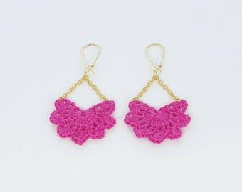 """Andalusian"" large model Fuchsia earrings"