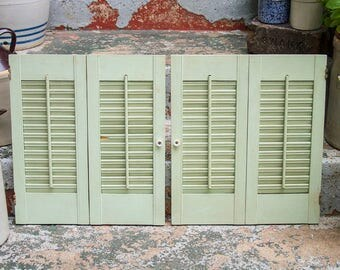 Antique pair of shutters Reclaimed shutter doors from an old