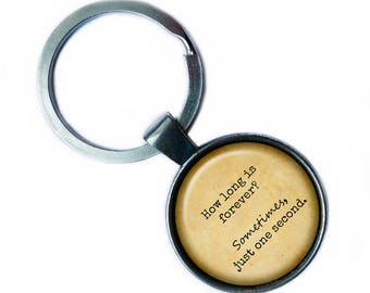"""Alice in Wonderland """"How long is forever? Sometimes, just one second."""" Keychain Keyring"""