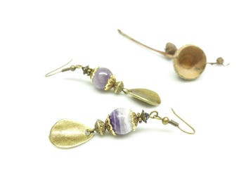 Retro earrings ~ () ~ petal of amethyst ~ () ~
