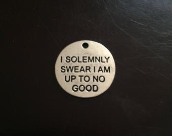 5PC I Solemnly Swear I Am Up To No Good Charm-Antique Silver
