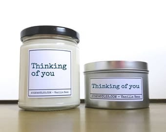 Thinking of You Gift | Get Well Soon Gift | Customized Candle | Sympathy Gift | Feel Better Soon | Well Wishes | Get Well Soon | Surgery