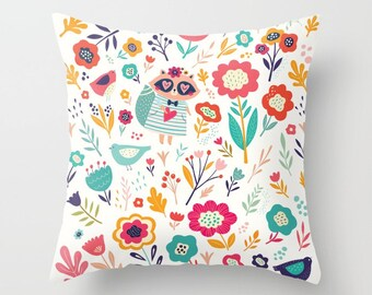 """THROW PILLOW COVER with pillow insert 40x40 cm  (16"""" x 16"""")"""