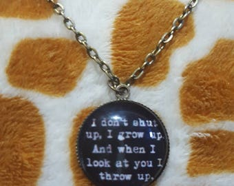 Stand By Me quote pendant