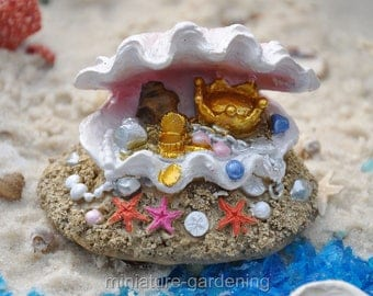 Mermaids Treasure for Miniature Garden, Fairy Garden