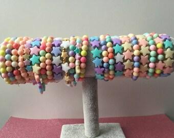 Pastel candy bracelets (All OOAK)