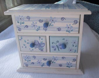 Precious Girls Jewelry Box White and Blue
