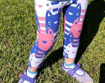 Baby organic leggings, Baby cat leggings, Toddler cat leggings,Organic leggings, Baby boy leggings, Organic leggings Preemies to 5 years old