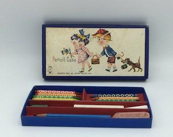 Hassenfeld Bros. Pencil Box/G. C. Murphy Co. Advertising/Vintage Pencil Box/Vintage Advertising/Vintage School Supplies/Hasbro Brothers