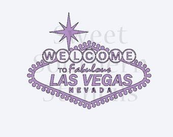 Las Vegas Sign Cookie Stencil