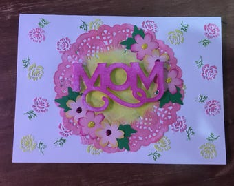 Mother's Day Handmade Greeting Card with envelooe