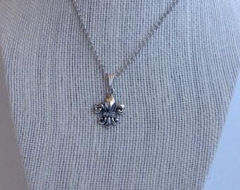 Fleur de Lis Necklace - Petite Fleur de Lys  Necklace