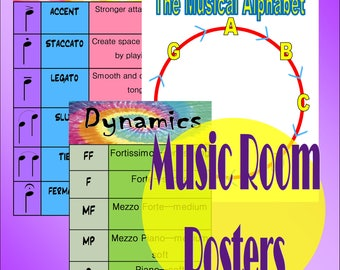 Music Room Posters Digital Download