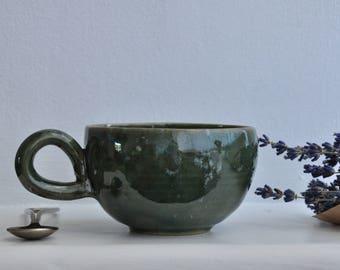 New Dark Green Tea/Coffee Cup