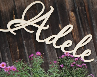 Large Name Laser Cut Wood Words Custom Nursery Decor Wooden Words Personalized Name Wall Decor Custom Word Party Decor babyname