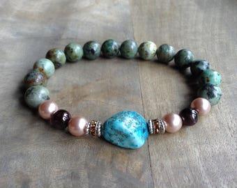 Bohemian bracelet gypsy bracelet gemstone womens jewelry boho chic bracelet hippie bracelet boho bracelet romantic bracelet boho jewelry