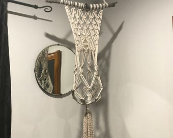 CRYSTAL DUST     |     Handcrafted Macrame Plant Hanger     |     NATURAL