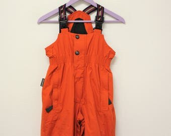 Red Sail & Ski Pants Snowboard High Waist  zip Skiing Trousers  Pants With Suspenders Size S/M (Mens) :M/L (Womens)