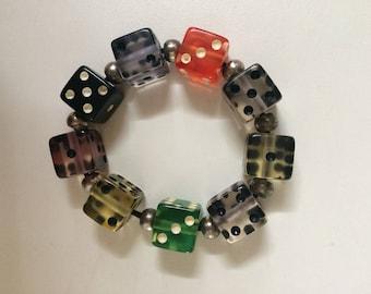 Dice Vintage Elastic Bracelet 1990