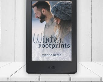 Winter Footprints Ebook E-reader Book Cover and Mock-Up