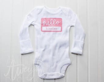 Hello My Name Is Infant Bodysuit