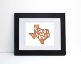Hook Em Horns - University of Texas Print