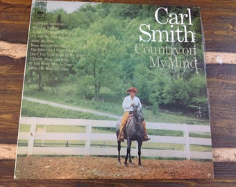 Carl Smith Country on My Mind Vintage Vinyl Record LP 1968