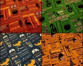 SALE! Harry Potter Custom Knit Fabric -- Hogwarts -- Gryffindor -- Slytherin -- Ravenclaw -- Hufflepuff -- by the fat half, half yard, yard