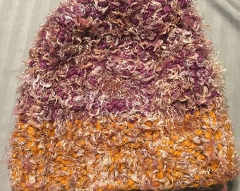 Purple & Gold Adult knitted beanie