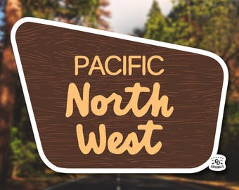 PNW Boundary Line Sticker - The Perfect Addition for Your HydroFlask