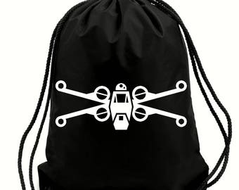 X wing fighter bag,gym bag,school bag,water resistant drawstring bag,swimming wet bag