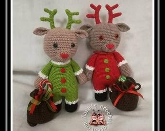 Remi, Christmas Reindeer pattern Croc's Betty