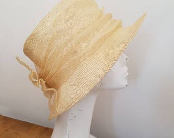 Vintage straw hat - formal hat by First Avenue Classics - Vintage hats