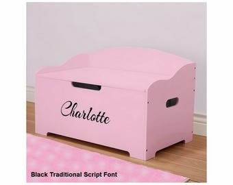 Personalized Dibsies Modern Expressions Signature Series Toy Box, Pink - Girls