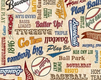 Baseball fabric   Etsy : baseball fabric for quilting - Adamdwight.com