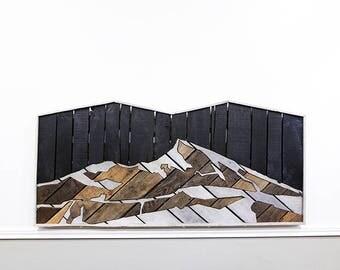 Mt Crested Butte, rustic headboard, rustic furniture, reclaimed wood, bedroom furniture, pallet furniture, guy gifts, headboard, wall art